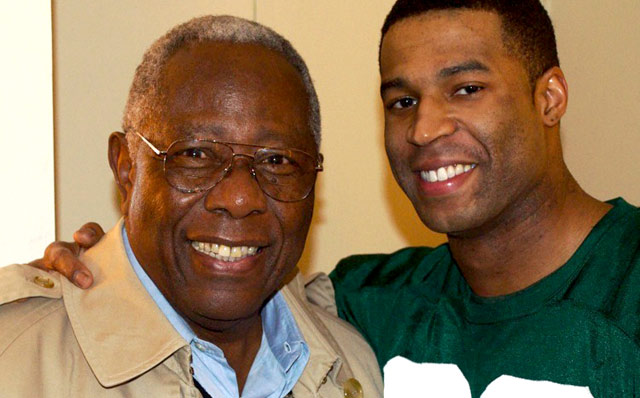 Hank Aaron and Robert Christopher Riley