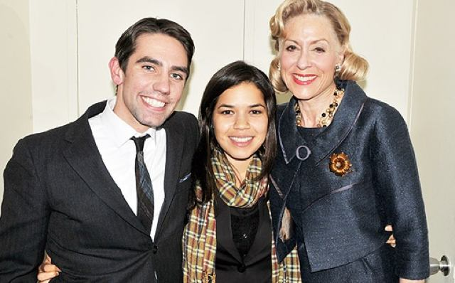 Keith Nobbs, America Ferrera and Judith Light (Photo: www.broadway.com)
