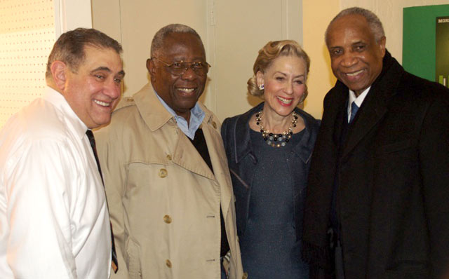 Dan Lauria, Hank Aaron, Judith Light and Frank Robinson