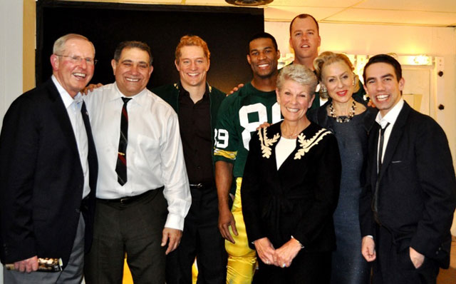 Head New York Giants coach Tom Coughlin and his wife Judy with the cast