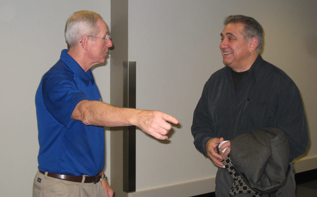 Coach Coughlin and Dan Lauria