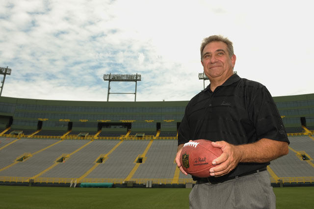 Dan Lauria at Lambeau Field.