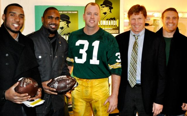 From left: Ryan Grant, Charles Woodson, Chris Sullivan, Mark Murphy, John Kuhn