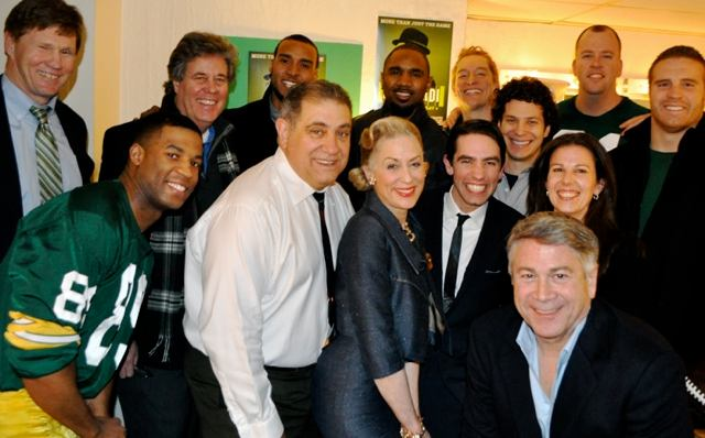 Back row, from left: Mark Murphy, David Maraniss, Ryan Grant, Charles Woodson, Bill Dawes, Chris Sullivan, John Kuhn. Front row, from left: Robert Christopher Riley, Dan Lauria, Judith Light, Keith Nobbs, Tommy Kail, Fran Kirmser, Tony Ponturo