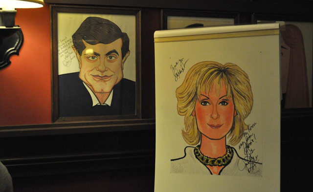 Dan Lauria's caricature and Judith Light's caricature